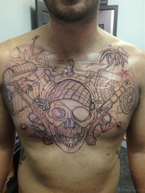 skull chest tattoos 51 attractive compass design on chest