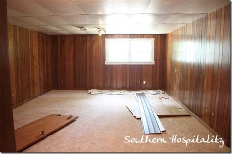 basement painting wood paneling for the home