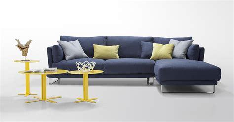 Modern Dark Blue Fabric Sectional Sofa   Lucas   Fabric