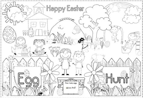 printable coloring pages esl free easter coloring page 1 placemats and