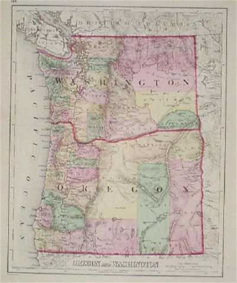 map of oregon washington prints washington page