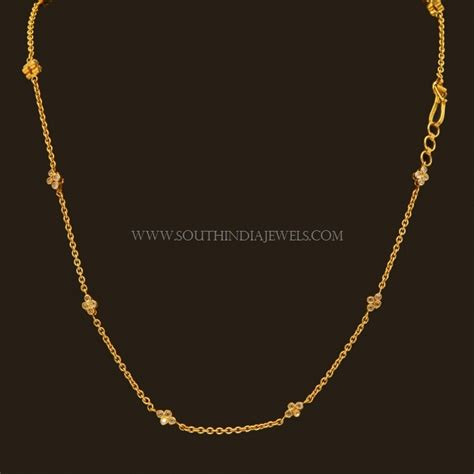 chain designs with gold chain designs for south india jewels