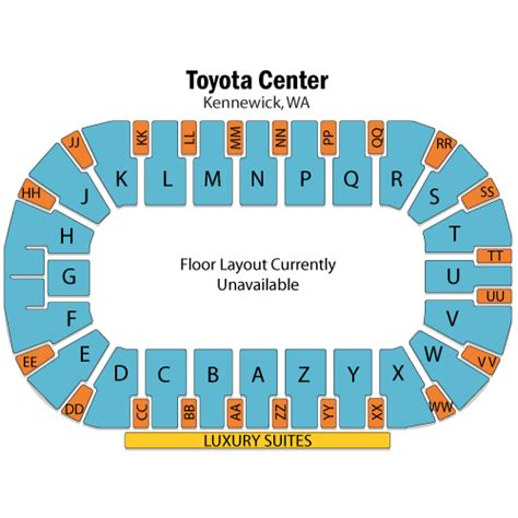 toyota center kennewick wa seating map and the beast february 20 tickets kennewick