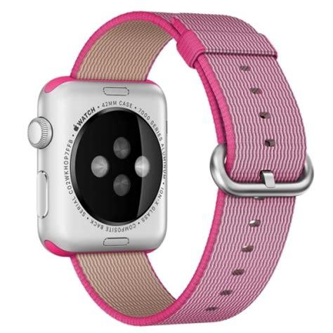 wallpaper apple watch nylon for apple watch 42mm woven nylon watchband pink alex nld
