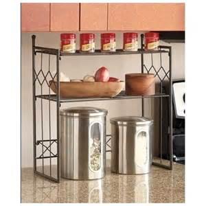 kitchen counter organizer space saver shelf 2 tier storage