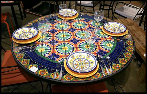 Mosaic Dining Room Table Of Including Furthur Whole Tables