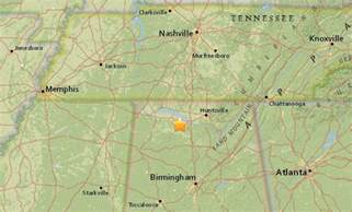 earthquake map northern alabama struck with small earthquake