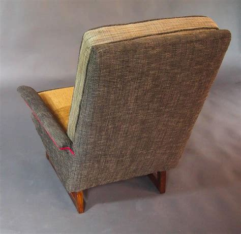 tweed ottoman gray tweed mid century armchair and ottoman for sale at