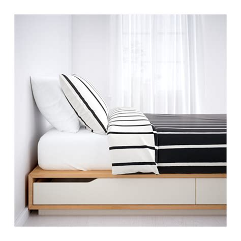 mandal ikea mandal bed frame with storage birch white 140x202 cm ikea