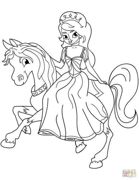 Coloring Pages Of Princesses by Princess Coloring Page Free Printable