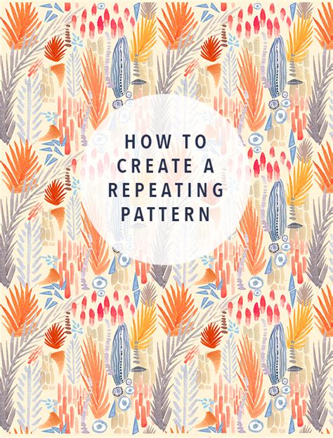 repeating pattern tutorial the jungalowthe jungalow
