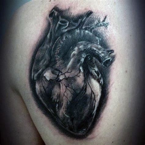 real heart tattoo designs 90 anatomical designs for blood pumping ink