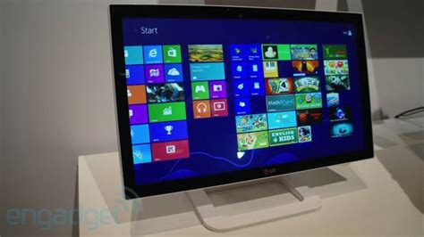 Monitor Lg Touchscreen lg s et83 touchscreen windows 8 monitor fingers on