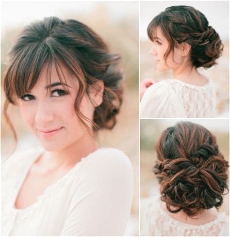 loose curl hairstyles for weddings curly bun updo put curled hair into a loose low bun