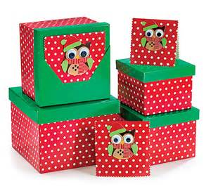 4 nested christmas owl gift boxes wrap up the party