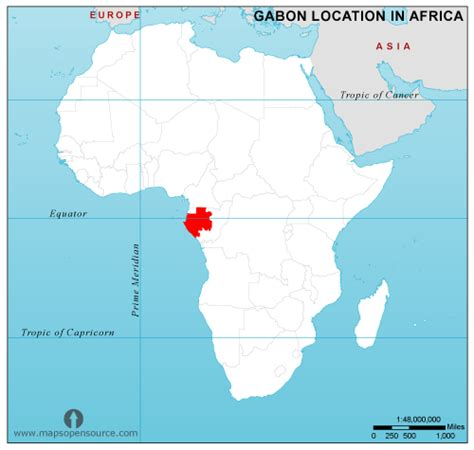 where is gabon on the world map free gabon location map in africa gabon location in