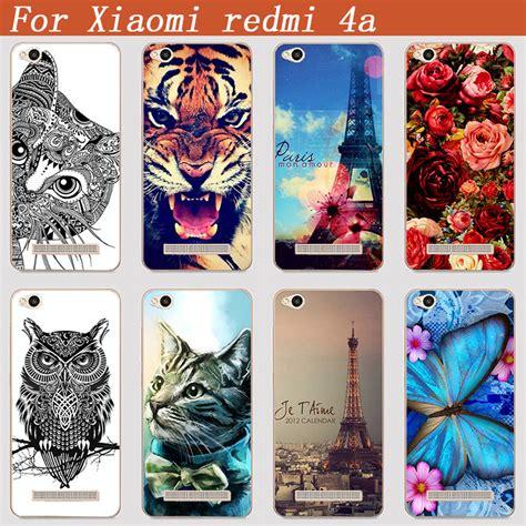 Metal Glitter Xiaomi Redmi 4a Hardcase Gliter for xiaomi redmi 4a cover diy uv painting colored tiger owl for xiaomi redmi 4a