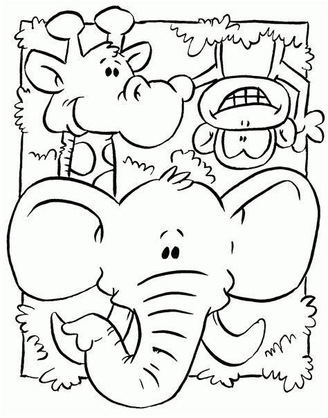 jungle animals coloring pages preschool dibujo de animales de la selva para colorear y pintar