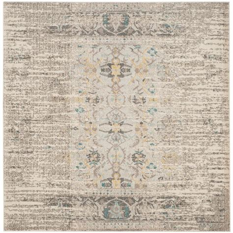 Square Area Rugs 9 X 9 Safavieh Monaco Gray Multi 9 Ft X 9 Ft Square Area Rug Mnc209g 9sq The Home Depot