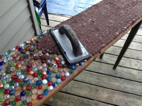 Table Top Ideas Junk Mail Gems Diy Marble Mosaic Table Top