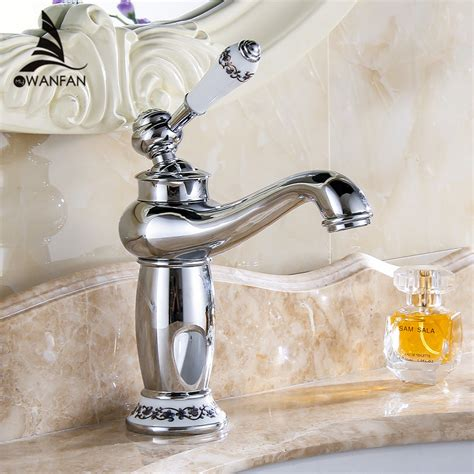 Brass Single Handle Bathroom Faucet by Free Shipping New Arrival Bathroom Faucet Ceramic Chrome