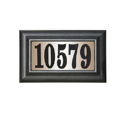 lighted house numbers home depot qualarc edgewood rectangular plastic lighted