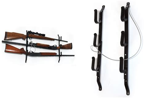 Wall Hanging Gun Rack by Rifle Gun Rack Truck Car Wall Steel Three Locking Storage