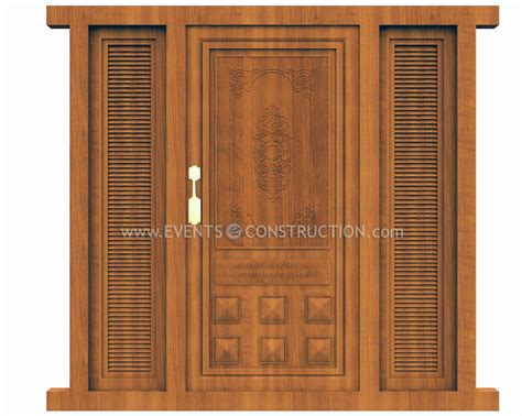 Wooden Main Door by Evens Construction Pvt Ltd Wooden Main Door Design