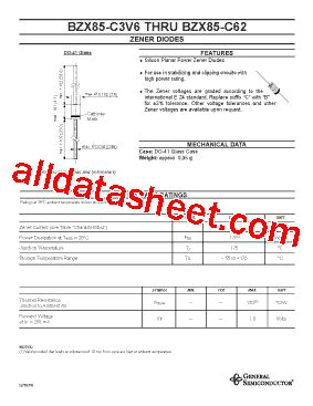 diode c15 bzx85 c16 datasheet pdf general semiconductor