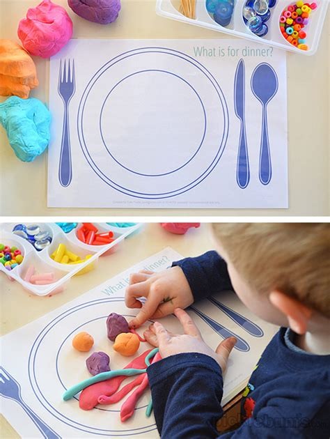 food play dough mats picklebums