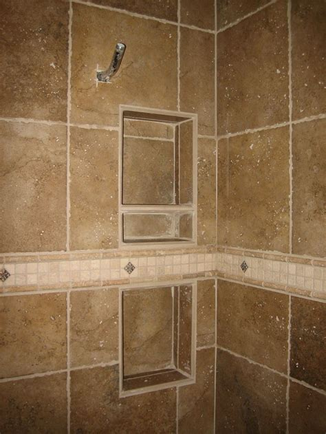 recessed shower shelf home