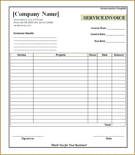 blank receipt template for mac free blank invoices printable europcars club