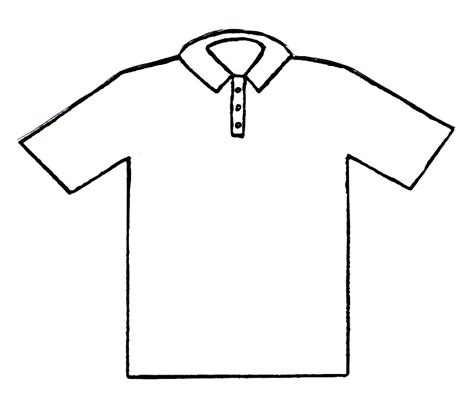 Blank T Shirt Coloring Page Coloring Pages