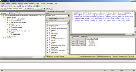 mdx query tutorial in sql server 2008 celinio s technical blog 187 executing mdx queries against
