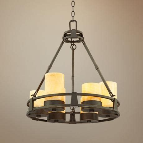 Faux Candle Chandelier Sunset Onyx 6 Light Faux Candle Chandelier