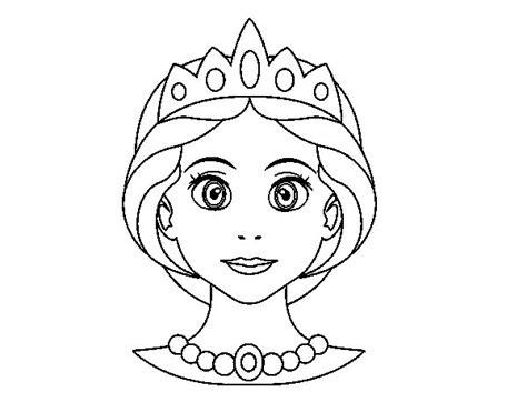 dibujos de princesas para colorear corona de princesa dibujo de cara de princesa para colorear dibujos net