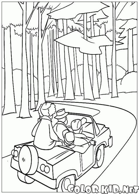 coloring page open season