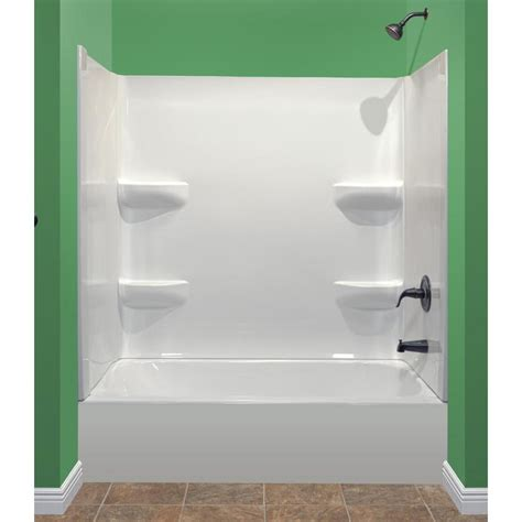 shop delta laurel high gloss white acrylic bathtub wall magnificent skirted bathtub contemporary the best