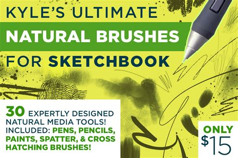 sketchbook pro mobomarket kyle s brushes 4 sketchbook brushes on creative