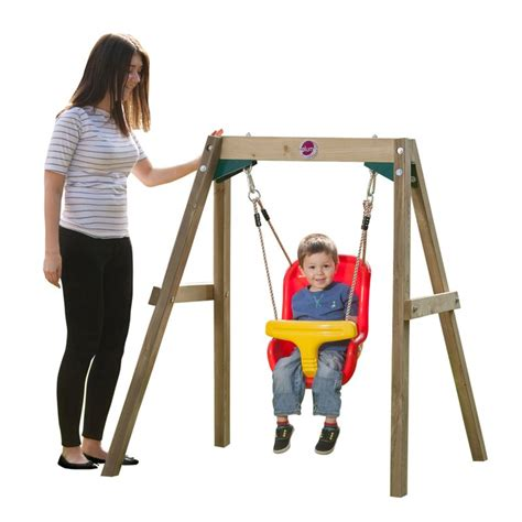 swing set for baby plum wooden framed toddler kid s swing set buy baby kids