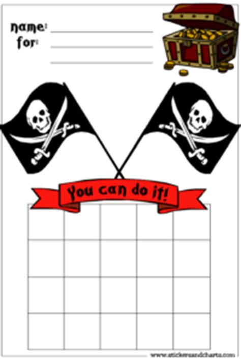 printable pirate reward charts behavior charts for boys pirates cool kindergarten