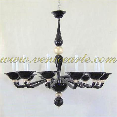 Black Murano Glass Chandelier Black Pearls Murano Glass Chandelier