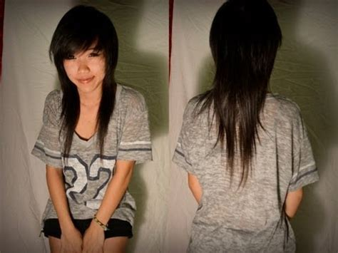 yourself asian hair mullet how i cut trim my hair asian mullet hair pinterest