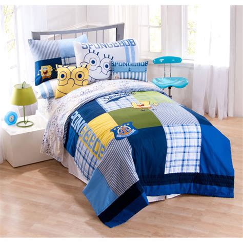 walmart bed sheet set spongebob squarepants bedding sheet set walmart com