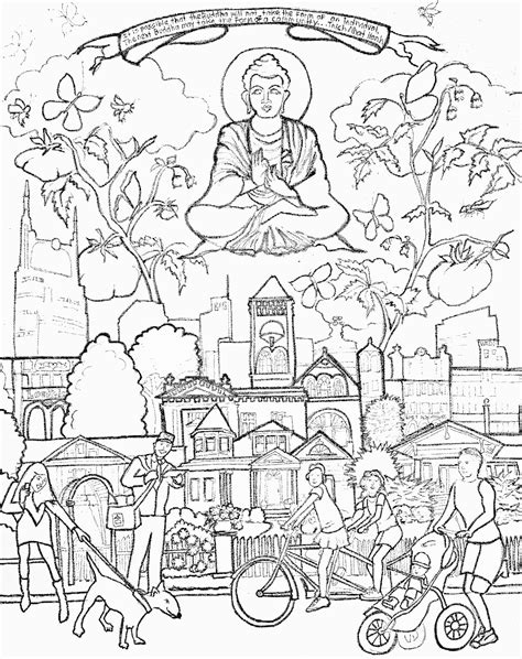 free coloring pages of the buddha