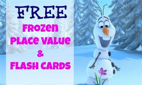 frozen printable get well card free frozen themed place value and flash cards southern