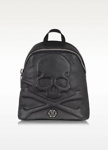 Philipp Plein Kaftan philipp plein black leather skull backpack barking