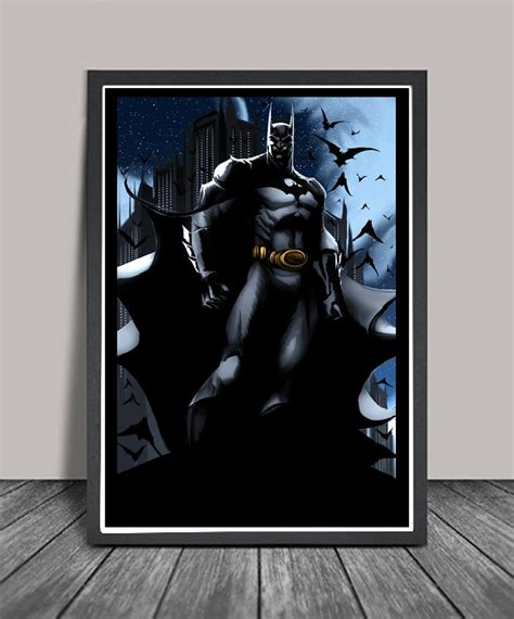 batman home decor dark batman home decor poster by thundercool on etsy