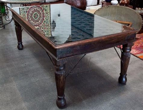 antique wooden door made into a dining table moroccan