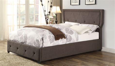 dark grey upholstered bed homelegance thain upholstered bed dark grey 1891n 1 at